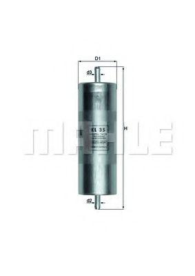 Фильтр топливный BMW E30/32/34/36 1.6-3.0i 88-95  арт. KL35