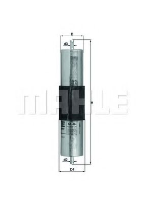 Фильтр топливный  арт. KL66