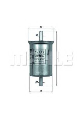 Топливный фильтр  арт. KL146