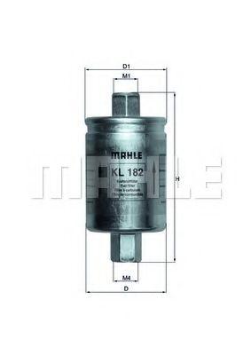 Фильтр топливный ВАЗ 2107, 08, 09, 99, 11, 12, 21 (инж.) (пр-во Knecht-Mahle)                         арт. KL182
