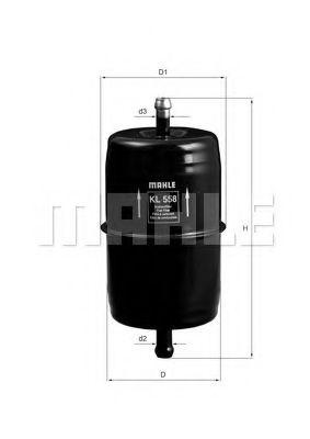 Топливный фильтр  арт. KL558