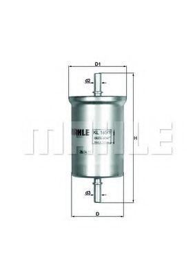 Фільтр палива KNECHT KL1651