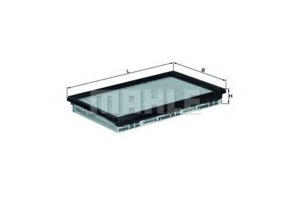 Фильтр воздушный OPEL (пр-во Knecht-Mahle)                                                            арт. LX307
