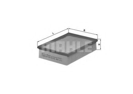 Фильтр воздушный BMW 3 (E36/46) /5 (E39)/X3  арт. LX343