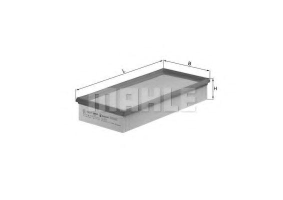Фильтр воздушный CITROEN, PEUGEOT (пр-во Knecht-Mahle)                                                арт. LX572