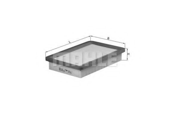 Фильтры воздуха салона автомобиля Фильтр воздушный HYUNDAI (пр-во Knecht-Mahle)  арт. LX789