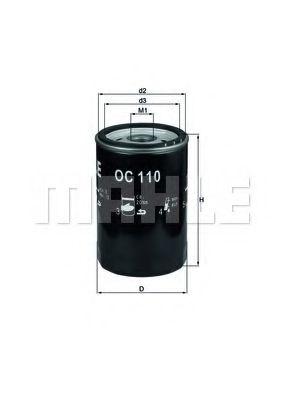 Фильтр масляный двигателя (пр-во Knecht-Mahle)                                                        арт. OC110