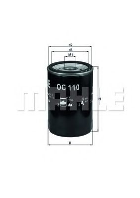 Фильтр масляный двигателя MERCEDES (пр-во Knecht-Mahle)                                               арт. OC110OF