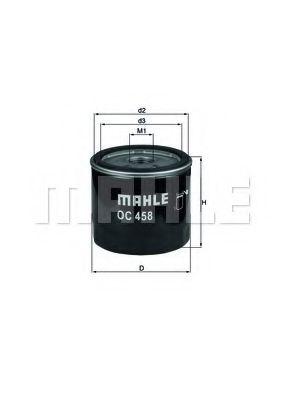 Фильтр масляный FIAT DOBLO, PUNTO II 1.9 JTD 01- (пр-во KNECHT-MAHLE)                                 арт. OC458