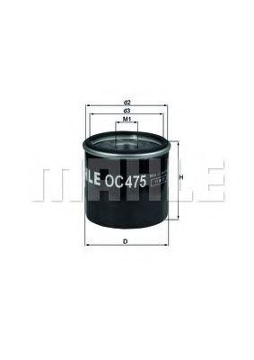 Фильтр масляный двигателя (пр-во Knecht-Mahle)                                                        арт. OC475