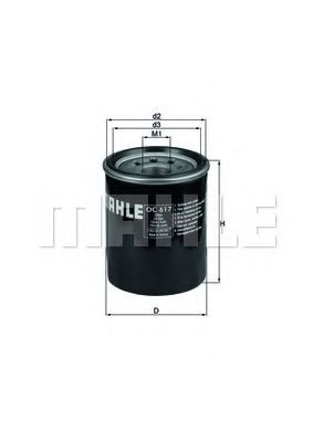 Фильтр масла Hyundai/Kia/Mazda  арт. OC617