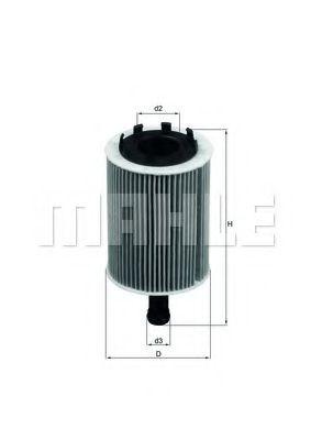 Фильтр масляный VW T5/Caddy III 03-  арт. OX188D