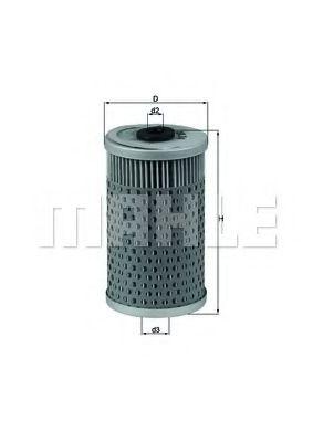 Фильтр масляный двигателя (пр-во Knecht-Mahle)                                                        арт. OX34D