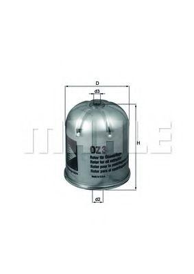Фильтр масляный (центробежный) RVI (TRUCK) (пр-во Knecht-Mahle)                                      KNECHT арт. OZ3D