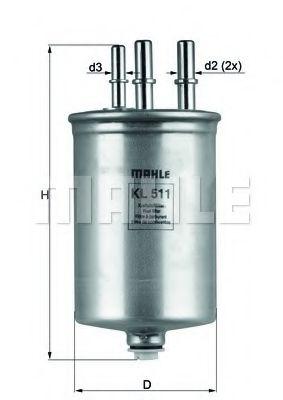 Фільтр палива KNECHT KL511