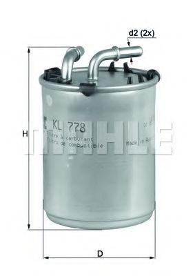 Фільтр палива KNECHT KL778