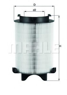 Фильтр воздушный AUDI, VW, SKODA (пр-во Knecht-Mahle)                                                 арт. LX1566