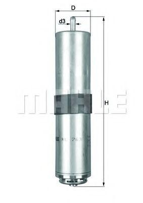 Фильтр топливный BMW 3 E90/X1/X3 2.0/3.0D  арт. KL763D
