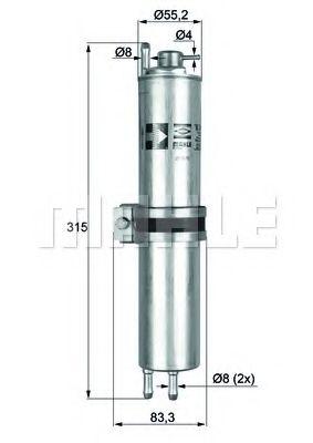 Паливний фільтр  арт. KLH12