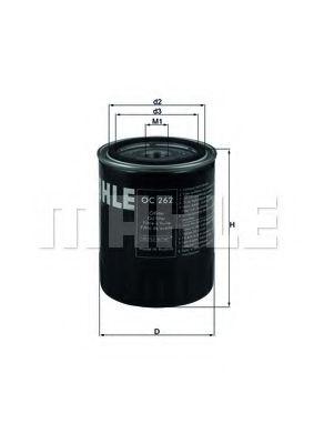 =OC249 Фильтр масла FORD GALAXY 1.9TDI VW T4 1.9TD 96- KNECHT OC262