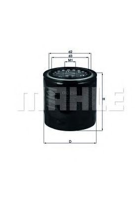 Фильтр масляный двигателя (пр-во Knecht-Mahle)                                                        арт. OC294
