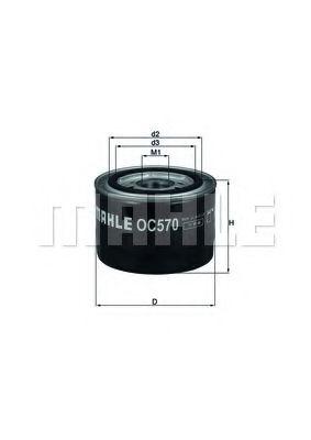 Фильтр масляный двигателя (пр-во Knecht-Mahle)                                                        арт. OC570