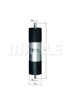 Фільтр палива KNECHT KL658
