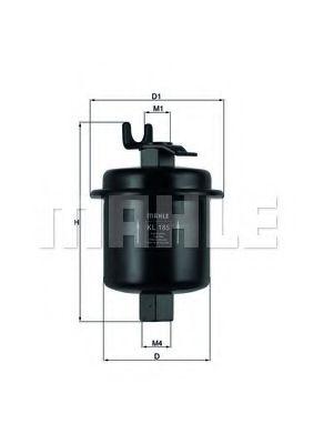 Фильтр топливный Civic 1.4i 95-/Accord 1.8-2.2i  арт. KL185