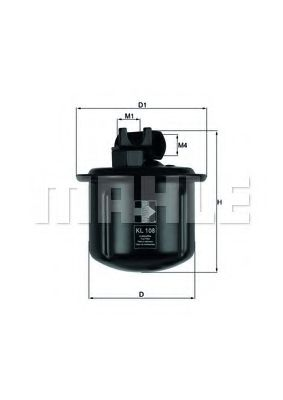 Топливный фильтр  арт. KL108