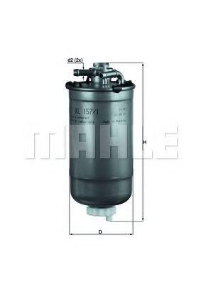Фільтр палива KNECHT KL1571D