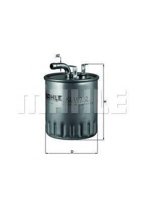 Фильтр топливный KNECHT KL1002