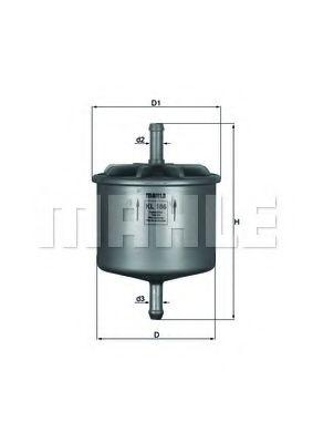 Топливный фильтр  арт. KL186
