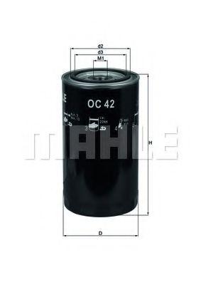 Фильтр масляный (TRUCK) (пр-во Knecht-Mahle)                                                         MFILTER арт. OC42