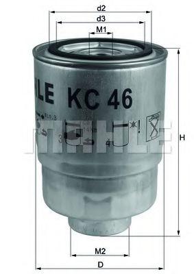 Фильтр топливный MAZDA 323 III, V 1.7-2.0 D -98 (пр-во KNECHT-MAHLE)                                  арт. KC46