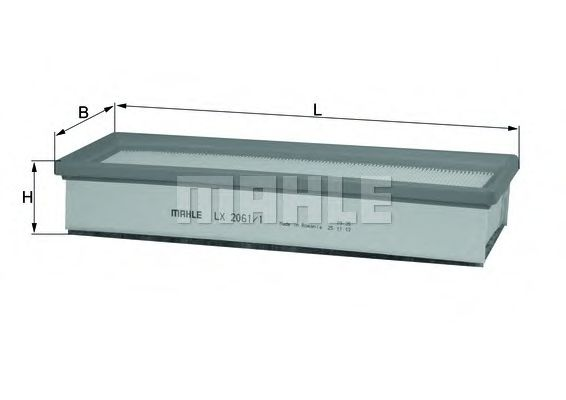 Фильтр воздушный DACIA LOGAN (пр-во Knecht-Mahle)                                                     арт. LX20611