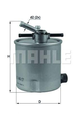 Фільтр палива KNECHT KL44027