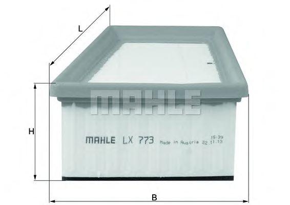 Фильтр воздушный (пр-во Knecht-Mahle)                                                                 арт. LX773
