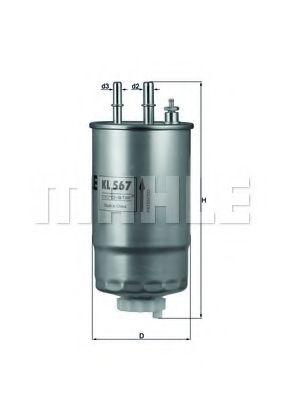 Топливный фильтр  арт. KL567