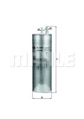 Фільтр палива KNECHT KL2292