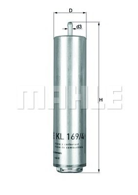 Фільтр палива KNECHT KL1694D