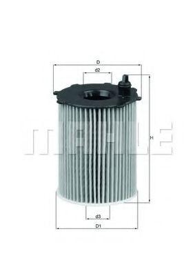 Масляный фильтр  арт. OX1712D