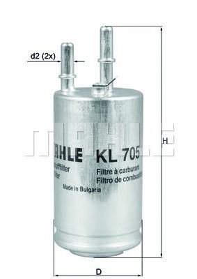 Фільтр палива KNECHT KL705