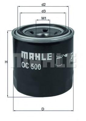 =OC205 Фильтр масла MAZDA 323 1.8D, 626 2.0D -87; KIA Venga 1.4-1.6 02/10- KNECHT OC500