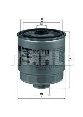 Паливний фільтр  арт. KC111
