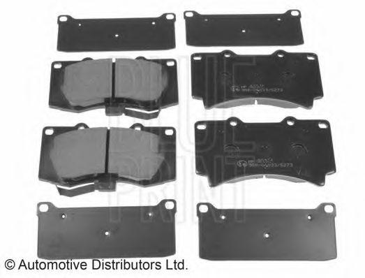 Комплект тормозных колодок, дисковый тормоз  арт. ADA104221