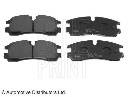 Комплект тормозных колодок, дисковый тормоз  арт. ADA104258