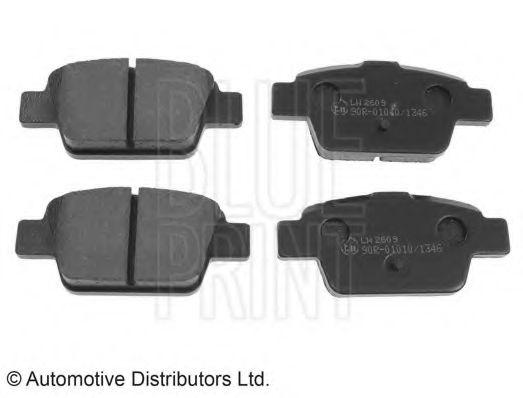 BLUE PRINT  FIAT Тормозные колодки задние STILO, BRAVO 1.2 16V-2.4 20V 01- BLUEPRINT ADL144204