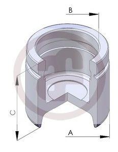 Поршень тормозного суппорта  арт. D02563