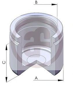 Поршень, корпус скобы тормоза  арт. D02581