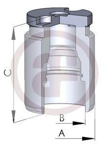 Поршень тормозного суппорта  арт. D02594